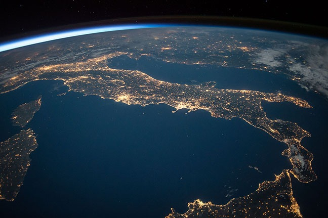 view of Europe from space illustrating international pending licenses for cannabis